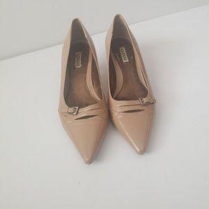Alfani low heel nude Pumps Leather Sz 7